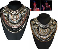 NEW NICOLE OTT STATEMENT MULTI CHAIN GRECIAN EGYPTIAN TRIBAL NECKLACE -XFACTOR