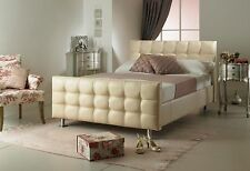 Cream Leather Bed For Any Bedroom Designer Bed Available In All Colours & Sizes