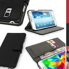 PU Leather Wallet Card Flip Case for Samsung Galaxy S5 MINI SM-G800 Stand Cover