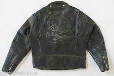 Harley Davidson Men's Vintage ORIGINAL Screamin Eagle Leather Jacket L 44 RARE