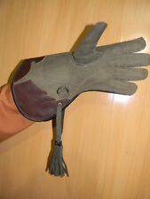 "2 Layer Nubuck Leather Falconry Eagle Glove 13"" Long -100% Real Nu-buck Leather/"