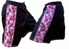 Black and Pink Camouflage MMA Shorts, Blank Camo Shorts