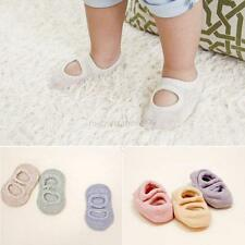 Newborn Toddler Kids Baby Socks Shoes Anti-Slip Indoor Slipper Shoes 0-3Years