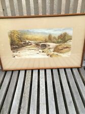 British Listed Artist John Hodson Watercolour Dated 1899 Fantastic Quality