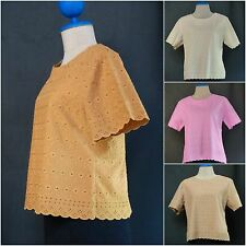 Vintage Boho Tunic Tank Top Casual Summer Blouse Lace Soft Cotton Shirt