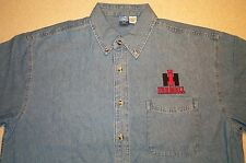 Mens IH Farmall Embroidered Denim Shirt with Pocket