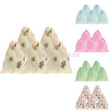 5pcs Printed Portable Socks Towel Shoes Drawstring Storage Bag Travel Dust Bags