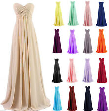 Long Chiffon Evening Formal Party Ball Gown Prom Wedding Bridesmaid Dress 6-18