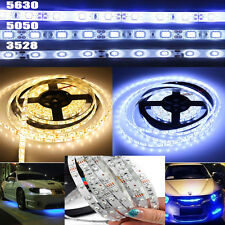 5M SMD 300Leds 3528 5050 5630 SMD White LED Flexible Strip Light  Adapter 12V DC