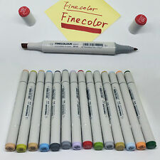 24 Colors Art Animation Design Markers Set Sketch Double Ended Marker Pens