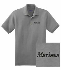 "USMC United States Marine Corps - Embroidered ""Marines"" DryBlend Polo Shirt"