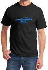 2003 2004 Ford Mustang Mach 1 Classic Color Outline Design Tshirt NEW