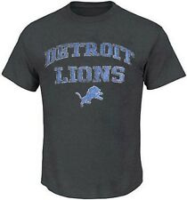 Detroit Lions NFL Mens Majestic Team Shine T Shirt Charcoal Size XLT