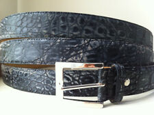 REAL GENUINE CROCODILE  SKIN  Men's belt antiqued black NEW MADE IN ITALY