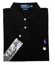 *NWT - POLO RALPH LAUREN Men's Mesh Knit Polo Pique - BLACK - Sizes: S - XL