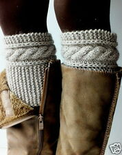 Hand Knit Boot Cuffs, Boot Toppers, Leg Warmers Cashmere-Kidmohair 7 colors
