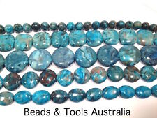 BLUE CRAZY LACE AGATE Beads Round Oval Coin Square Beads BEADS & TOOLS - Superb!