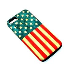 For Apple iPhone 5c Hybrid 2-in-1 Phone Cover Case United States Flag