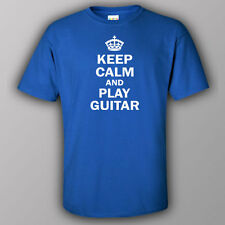 Funny T-shirt KEEP CALM AND PLAY GUITAR music player