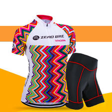 Women's Cycling Jersey Set Cyclist Bike Bicycle Short Sleeve Jersey Tight Shorts