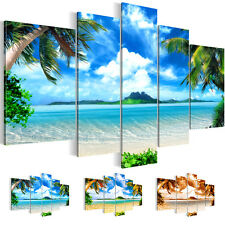 PICTURE CANVAS PICTURE ART PRINT LANDSCAPE BEACH OCEAN BLUE 5 pieces 6033516_27