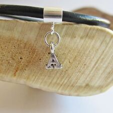 Initial 'A' Sterling Silver European-Style Charm and Bracelet- Free Shipping