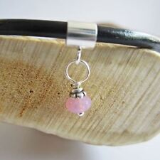 Pink 5mm Swirl Czech Glass Bead European-Style Charm and Bracelet- Free Shipping
