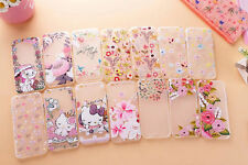 Thin Slim Beauty Flowers Pattern PC Hard Back Cover Skin Case For iPhone 6 Plus