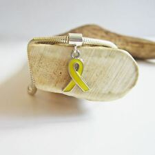 Yellow Enamel Ribbon European-Style Charm and Bracelet- Free Shipping