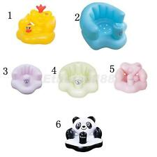 Cute Inflatable Cartoon Baby Bath Swim Seat Dining Chair with Built In Air Pump