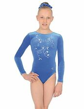 NEW THE ZONE SPARKLY GIRLS GYMNASTICS LONG SLEEVED LEOTARD ALL AGES/SIZES
