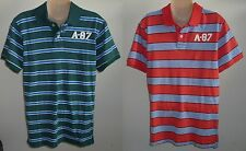 Mens AEROPOSTALE Aero A-87 Striped Jersey Polo Shirt NWT #2438