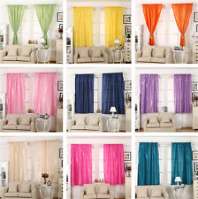 1 Pair Thermal Blackout Curtain Energy Saving Ready Made Curtains Panels 145*180