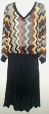 MISSONI for Target Women's 2Pc Set: Zig-Zag Chiffon Sweater &Crepe Maxi Skirt XS