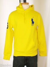 Polo Ralph Lauren Big Pony Yellow Hoodie Sweatshirt Polo Pony M L NWT