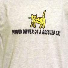 PROUD OWNER OF A RESCUED CAT CREW NECK SWEATSHIRT Many COLORS SM TO 5XL NWOTS