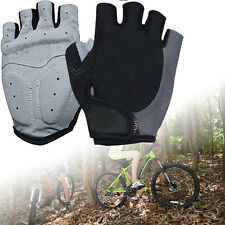 Outdoor Sport Cycling Bicycle Bike Motorcycle Gel Half Finger Fingerless Gloves