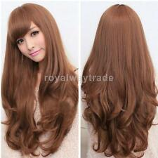 Women's Full Wigs Long Curly Wavy Wig Dark Brown/Light Brown Fashion Hairstyle