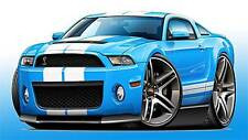 2010-14 Shelby GT500 Mustang Muscle Car Art Print NEW