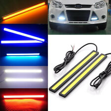 2x Car Auto DRL COB LED Daytime Running Lamps Fog Driving Lights Waterproof 12V