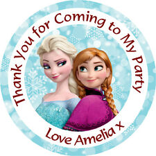 Personalised Frozen Elsa Anna 37mm Birthday Stickers Party Thank You Seals - L87