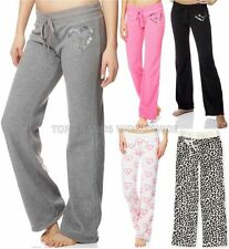 AEROPOSTALE WOMENS FLEECE LOUNGE PANTS LLD SLEEP SWEATS LIVE LOVE DREAM LEOPARD