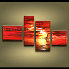 Handmade Large Contemporary Wall Art Seascape Painting Canvas Stretched