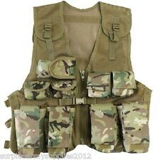 ARMY CADET ASSAULT VEST BOYS GIRLS CHEST WEBBING PAINTBALLING FISHIN DPM BTP MTP