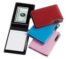 Travelwell Bonded Leather Mini Jotter Writing Pad with Pen - A8255