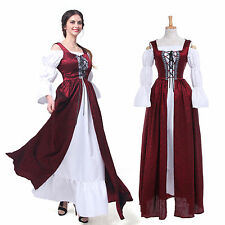 Renaissance Medieval Irish Costume Over Dress & Boho Chemise Set