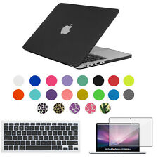 Rubberized Hard Case Shell+Keyboard Cover For MacBook Air Pro Retina 11 13 15