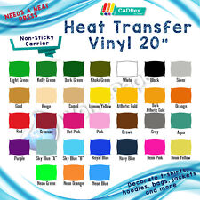 "Heat transfer vinyl film heat press machine cad cut cutter plotter 20""x5 yard :)"