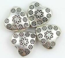 Wholesale 30/50pc 10x11mm Silver heart Spacer Charm Beads Jewelry finding bead