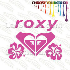 "1 of 5"" Roxy Hibiscus /A surf skate car truck window bumper stickers decals"